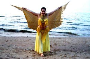 2006 lizi yellow costume